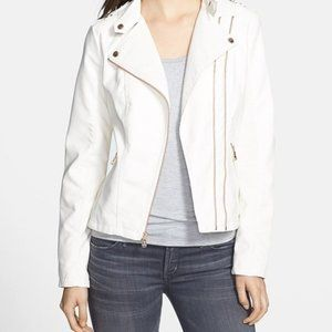 New Guess Patent Leather White Jacket Blazer